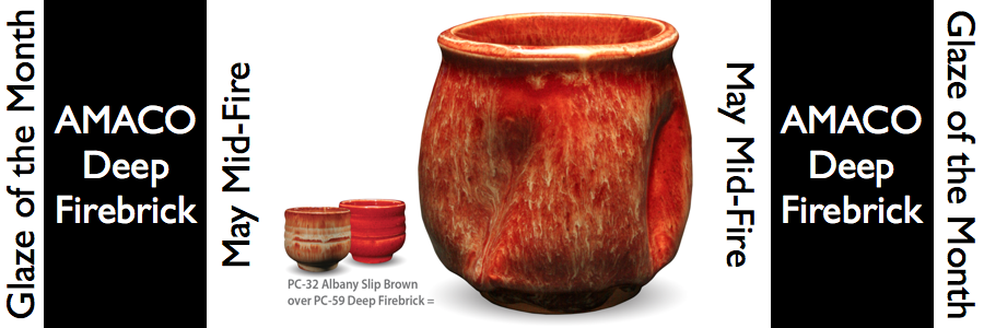 Deep Firebrick – May Mid-Fire Glaze of the Month