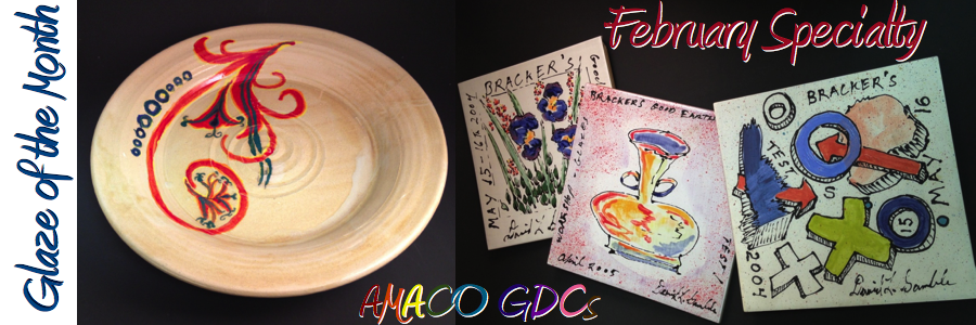 AMACO GDCs – February Specialty Glaze of the Month