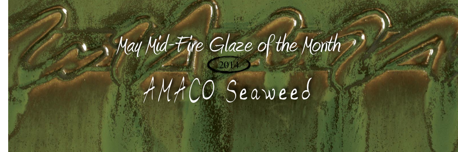 May Mid-Fire Glaze of the Month: Seaweed