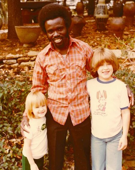 Asante Adu Dark with Cindy Bracker (left) and Anne Bracker