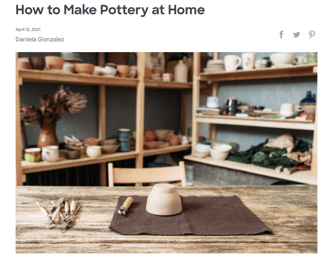 Porch article on making pottery at home